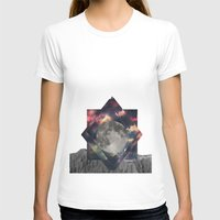 Moon Womens Fitted Tee White SMALL