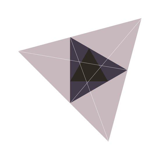 #221 Triangular space – Geometry Daily Art Print