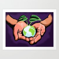 Care For Environment Art Print
