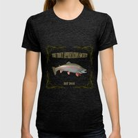 Trout Appreciation Society  Womens Fitted Tee Tri-Black SMALL