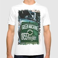 Green Machine Mens Fitted Tee White SMALL