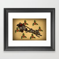 Christmas on the Nut Express Framed Art Print