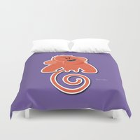 Angry moonkey  Duvet Cover
