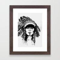 Look Inside - Black and White Framed Art Print