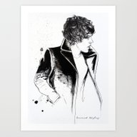 Art Print featuring Harry Coat Sketch by Coconut Wishes