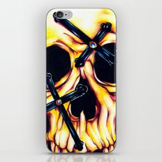 Cross Face iPhone & iPod Skin