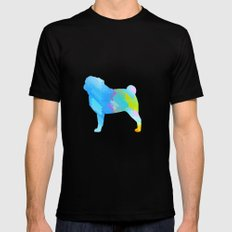 Pug SMALL Mens Fitted Tee Black