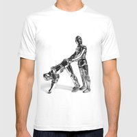 Droid Buttseks Mens Fitted Tee White SMALL