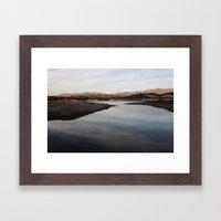 cachuma lake Framed Art Print
