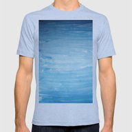 Cool Face Of The River Mens Fitted Tee Athletic Blue SMALL