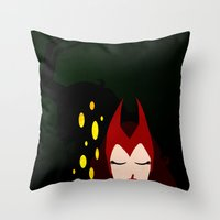 Mischief from Shadows (Lady Loki as Scarlet Witch) Throw Pillow