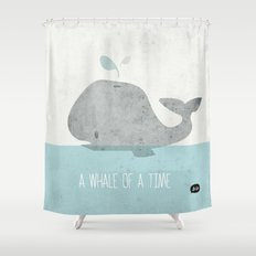 Whale Of A Time Shower Curtain