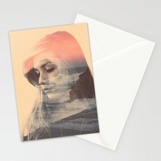 Wild Lion (Double Exposure) Stationery Cards