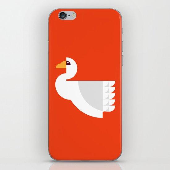 Geometric swan iPhone & iPod Skin