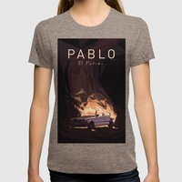 Pablo Womens Fitted Tee Tri-Coffee SMALL