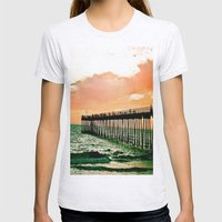 Hermosa Pier (1) Womens Fitted Tee Ash Grey SMALL
