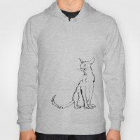 Skinny cat illustration Hoody