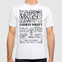 Diagon Alley Farmers' Market Mens Fitted Tee Ash Grey SMALL