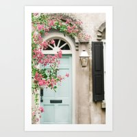 Charleston doorway Art Print
