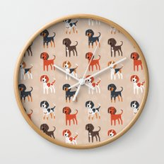 Coonhounds! Wall Clock