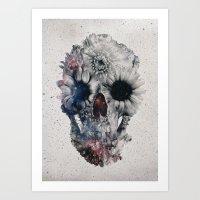 Floral Skull 2 Art Print