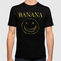 Banana Smile Mens Fitted Tee Black SMALL