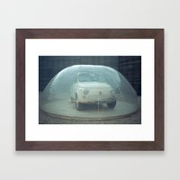 bubble car Framed Art Print