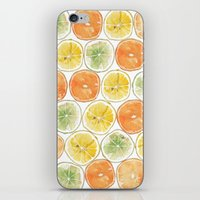 Orange Print iPhone & iPod Skin