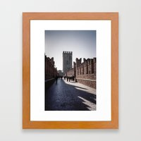 Faded Memories: Ponte Scaligero Framed Art Print