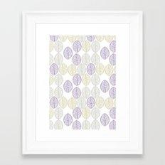 Leaf patttern Framed Art Print