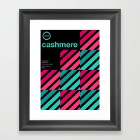 cashmere single hop Framed Art Print