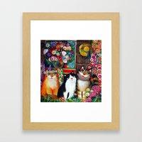 vilage cats Framed Art Print