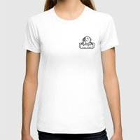Oy Vey dude blk Womens Fitted Tee White SMALL