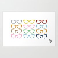 Glasses #4 Art Print