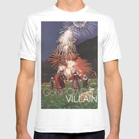 Gunpowder Villain Mens Fitted Tee White SMALL