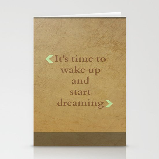 It's time to wake up... Stationery Card