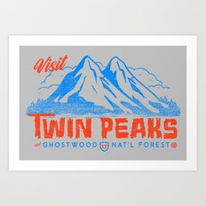 Visit Twin Peaks (orange) Art Print