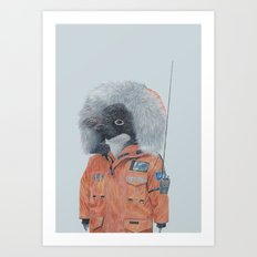 Antarctic Penguin Art Print