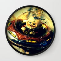 A Flying Saucer Christmas Wall Clock