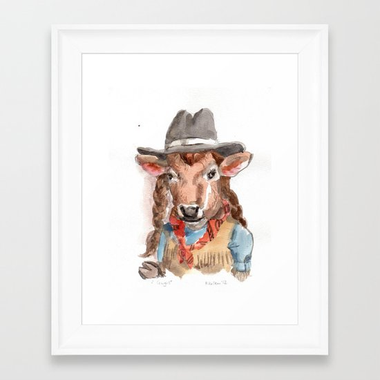 Cowgirl Framed Art Print