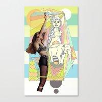 Native Elephant Canvas Print