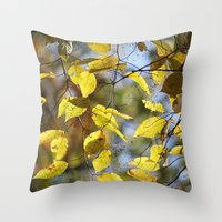Dreaming Of Yellow Leave… Throw Pillow