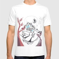 Round Tree House Mens Fitted Tee White SMALL