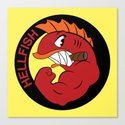 Join the hellfish Canvas Print