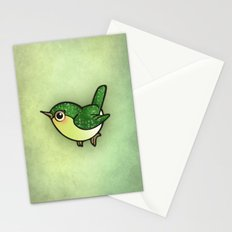 Cute Green Bird Stationery Cards