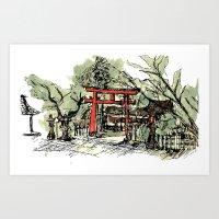 Yoshida Jinja Art Print