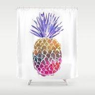 GoodVibes Pineapple Shower Curtain