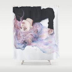 miss violence Shower Curtain