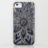 Cute Retro Gold Abstract… iPhone 5c Slim Case