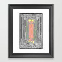 Glitch in the Style of Art Nouveau  Framed Art Print